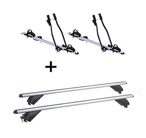 VDP 2X Fahrradträger SAGITTAR + Alu Dachträger RB003 kompatibel mit Hyundai ix35 (5Türer) 2010-2015