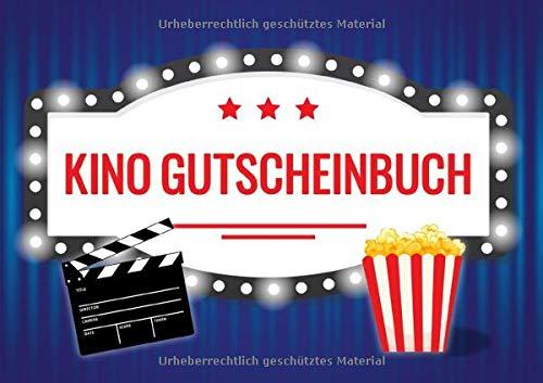 Kino Gutscheinbuch: Blanko Gutscheinheft als Geschenk für Kino-Fans und Cineasten