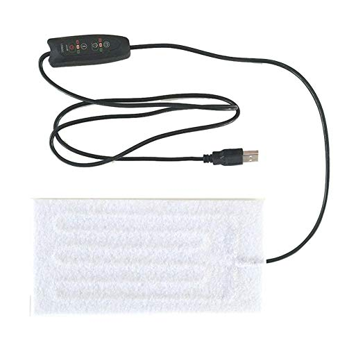 SinceY Almohadilla calefactora para Ropa de 5 V, USB, Fibra de Carbono, Almohadillas calefactables rápidas, con Interruptor de Ajuste de Temperatura para Hombros cervicales.