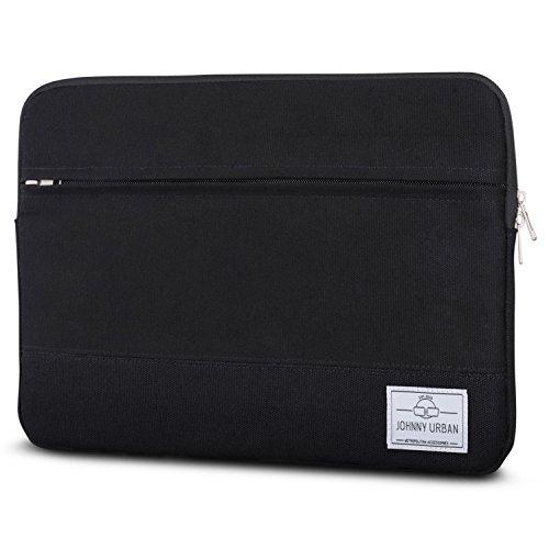 Johnny Urban Laptophülle 13-13.3 Zoll Schwarz Canvas Laptop Sleeve Laptoptasche Hülle für Surface...