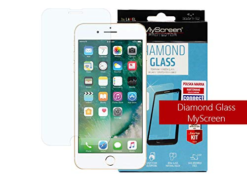 etuo Handyhülle für Apple iPhone 8 Plus Panzerglas 9H Glas Schutz Display Panzer Schutzglas MyScreen Protector Diamond Glass