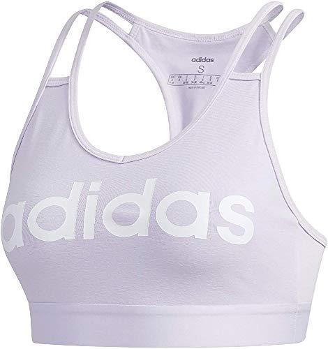 adidas W E BT Reggiseno Sportivo, Donna, Purple Tint/White, XS