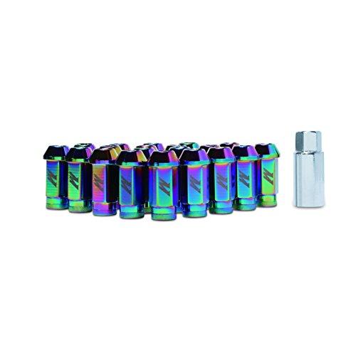 Mishimoto - MMLG-15-LOCKNC Aluminum Locking Lug Nuts, M12 x 1.5, Neo Chrome