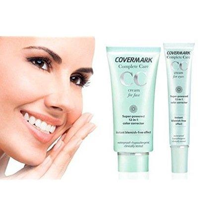 CC Crème visage 40ml SOFT BROWN + CC Crème contour des yeux SOFT BROWN 15 ML - COVERMARK - Correcteur de teint 12 en 1