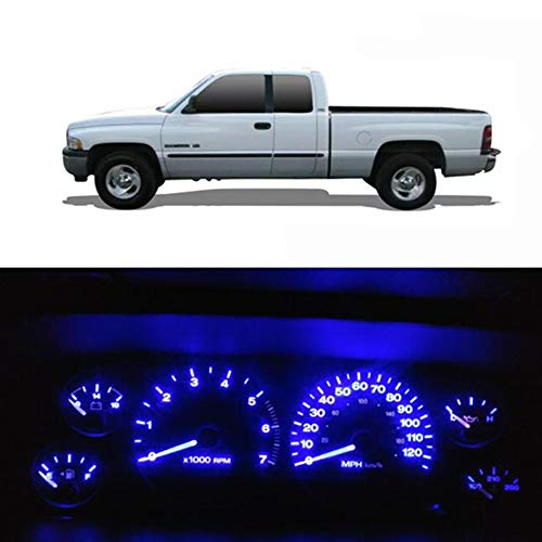 WLJH Blue Instrument Cluster Panel Gauge Dash Light Bulb Indicator Full Led Light Kit with Socket for Dodge Ram 1500 2500 3500 1994-2001, Pack of 20
