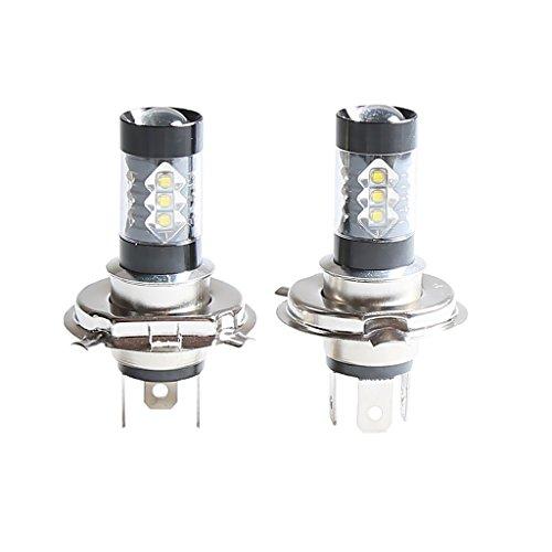 H HILABEE 1500LM H4 9003 LED Kit de Faros Delanteros Bombillas de Luz Antiniebla para Coche Hi/Low Beam Blanco