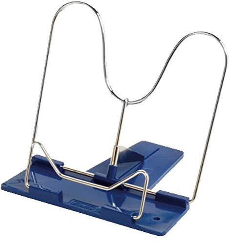 Herlitz Leseständer mit Metallbügel und Kunststoffsocke (Blau, 1 Leseständer)