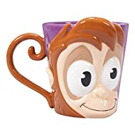 Officially licensed Disney merchandise by Half Moon Bay Shaped like Abu from Aladdin Hand sculpted and painted Mug handle shaped like Abu's tail Not dishwasher or microwave safe