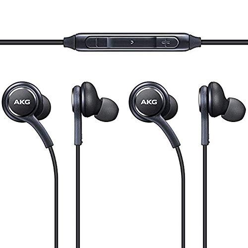 Original AKG Kopfhörer 3-er Set In-Ear Headset mit Anrufannahme-Taste und Lautstärke-Regler satte Bässe Stereo Sound EO-IG955 Bulk Schwarz