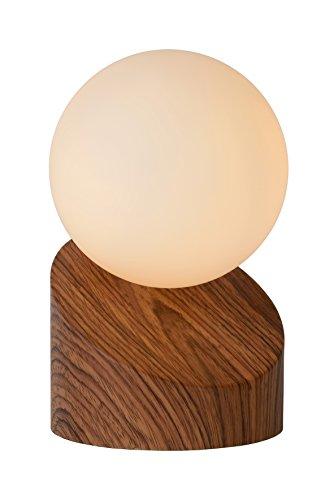 Lucide 45561/01/70 Lampe de Table Métal 5 W Bois/Opalin
