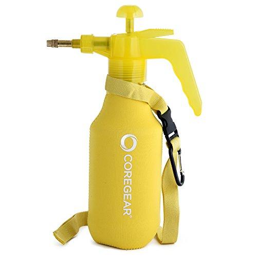 COREGEAR (Ultra Cool JR XL USA Misters 1 Liter Mister & Sprayer Personal Water Pump with Full Neoprene Jacket (Yellow)