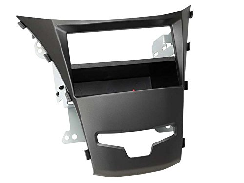 Adaptateur de façade 2-DIN Inbay® Ssangyong Korando 2013 >jet noir
