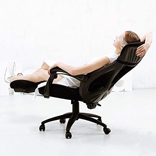 CCAN Sedia E-Sports con Schienale, ergonomica con poggiapiedi in Rete Sedia da Ufficio Traspirante Sedia da scrivania per Computer in Stile Semplice Happy Life