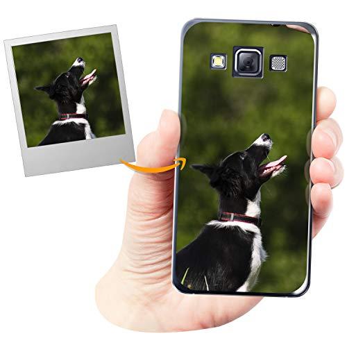 Coverpersonalizzate.it Handyhülle für Samsung Galaxy A3 mit Foto-, Bildern- oder Text selbst gestalten- Die Handyhülle ist aus weichem transparentem TPU-Silikon-Gel Material