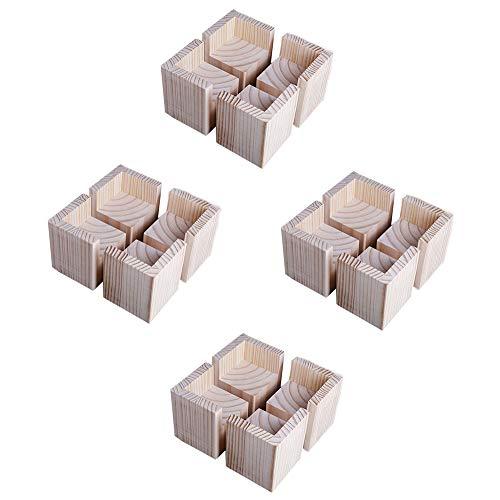 Table legger lengte 5 cm * breedte 5 cm * hoogte 3 cm * 4 stokken bedpoten bedpoten heffen houten blok salontafel voetbekleding hoog massief hout steun voetsofa voet tafelpoten kastvoet verhogen