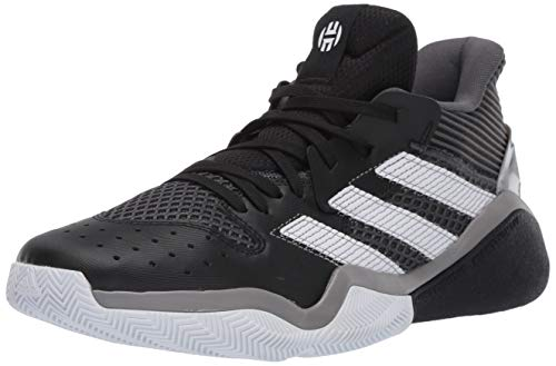 adidas mens Harden Stepback Basketball Shoe, Core Black/Grey Six/Ftwr White, 8.5 US