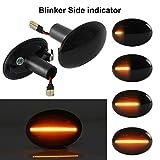 OZ-LAMPE Dynamischer Seitenblinker Blinker Fließender Seitenblinker Rauch Für BM-W MINI Cooper R55...