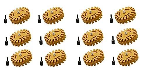 Follex Rubber Eraser Wheel Removes Pinstripes, Stickers, Vinyl, Bumper Stickers, Decals and More from Cars, Trucks, Buses, Airplanes and Boats 12 Pack