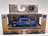 M2 Machines by M2 Collectible Detroit-Muscle 1955 Chevy Bel Air Hardtop Custom 1:64 Scale Matte Blue Details Like NO Other!