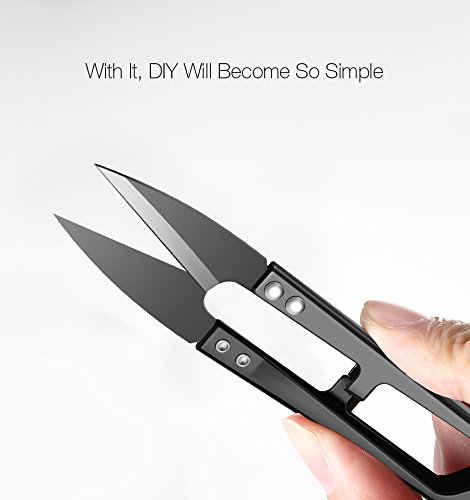 KCASA Sewing Thread Scissors High-carbon Steel Antirust Pruning Scissor Leaves Trimmer