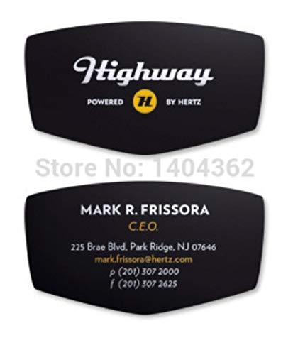 Kundenspezifische Form Visitenkarte Druck gestanzten Visitenkarte Visitenkarten voller Farbe und 300g Papier Visitenkarte 500pcs