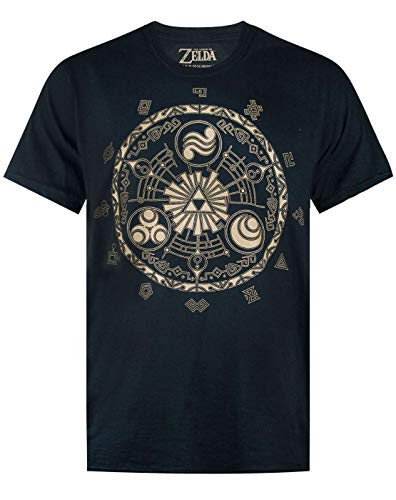 ZELDA The Legend of Runes Gamer Nintendo Black Men's T-Shirt