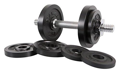 Hammer 6721 set halters 15 kg, zwart/zilver