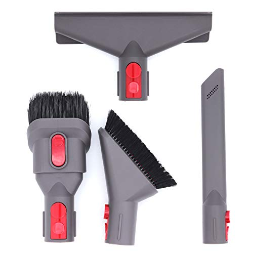 DingGreat Kit de fijación de cepillo para aspiradora Dyson V8 V7 V10 V11, incluye limpiador de colchones, herramienta de combinación, herramienta de grieta, cepillo suave para polvo