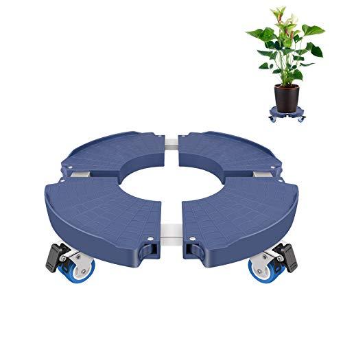 Linkax Sottovaso con Ruote, Portavaso con Ruote Ruotabile a 360 °, Portavasi di Dimensioni Regolabili per Interno Esterno Casa e Giardino, Grande Capacità di carico Fino a 150 kg
