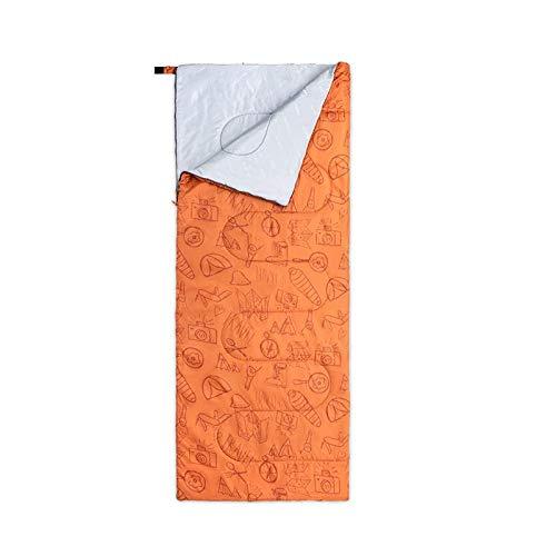 DLSM Été simple mince sac de couchage extérieur adulte imperméable à l'eau camping ultra-léger portable sac de couchage sac à dos de voyage, Jaune désert