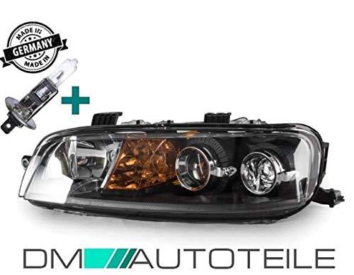 DM Autoteile Punto 188 Scheinwerfer H1/H1 Links schwarz für LWR 99-03 Set inkl.H1 Birne