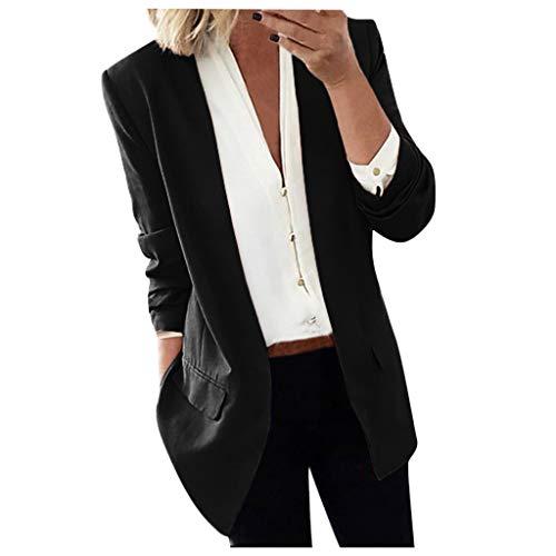 Blazer Femme Grande Taille Manche Longue Printemps Automne Veste de Tailleur Mode Chic Élégant Lâche Casual Confortable Soirée Blouson Costume d'affaires Business Manteau