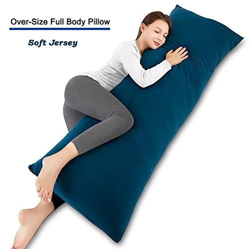INSEN Body Pillow-Long Body Pillow- Long Side Sleeping Body Pillow for Adult and Pregnancy-with Body Pillow Cover (Navy Blue)