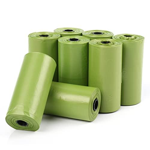 120 Bolsas caca perro Biodegradables Perfumadas,Bolsas Biodegradables Perfumadas para Excrementos perros,gatos, mascotas. Fuertes, Resistente a Fugas, Perfumada.(color verde)