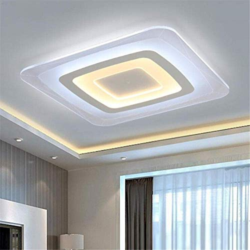 Lámparas de techo, delgadas, luz de salón, cuadradas, elegantes, atmosféricas, lámpara de techo LED, sencilla, moderna, regulable, luz de estudio para dormitorio