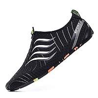 男性多機能快適なソフトソール滑り止めQucik乾燥カジュアルダイビングシューズ運動靴通勤 (Size:6.5; Color:Grey)