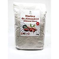 Harina de Almedras 1Kg – Ideal para Reposteria – Sin Gluten – 100 % Natural y de Origen Nacional – No Transgenica – Molida Fina - Vegana