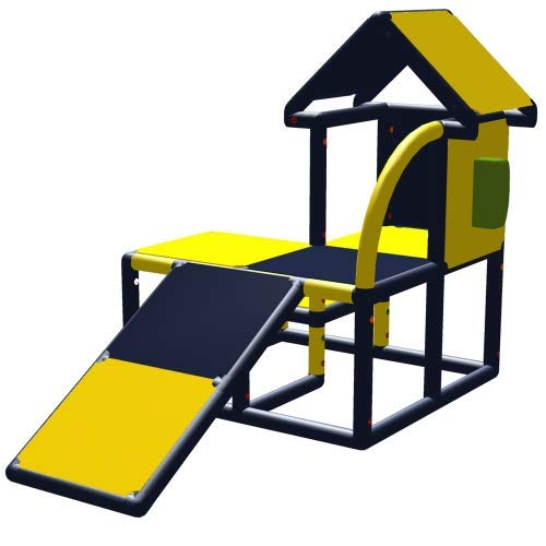 move and stic Casa de juegos Kuno con tobogán y teléfono para habitación infantil o sala de juegos.