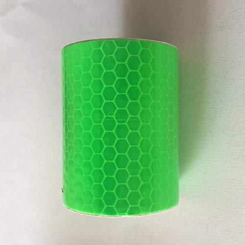 Absir Reflektierendes Klebeband, Dekoration, Aufkleber, Auto-Warnfolie, Auto-Reflektor-Aufkleber, 5 cm x 3 m, grün