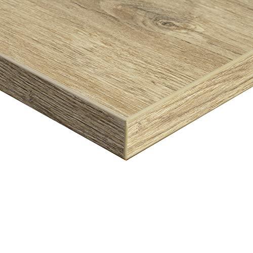 boho office® Tischplatte, Schreibtischplatte 140 x 80 x 2.5 cm in Wildeiche mit hoher Kratzfestigkeit und 120 kg Belastbarkeit