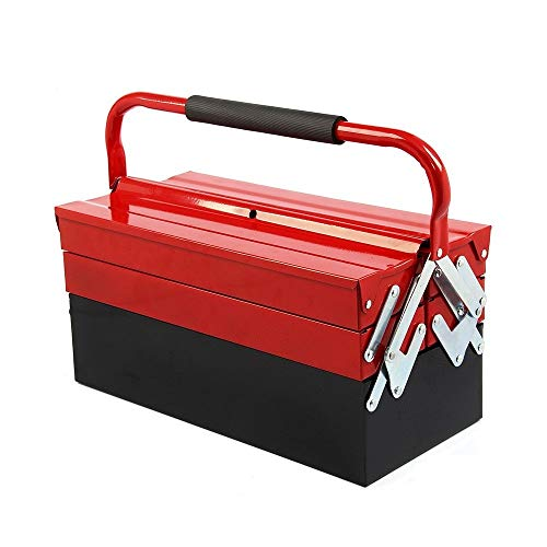 Shoze Metal Tool Box 3 Tier 5 Tray Professional Portable Storage Cabinet Workshop Cantilever Toolbox...