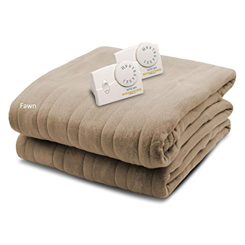 Biddeford Blankets, LLC Comfort Knit Heated Blanket, Queen,...
