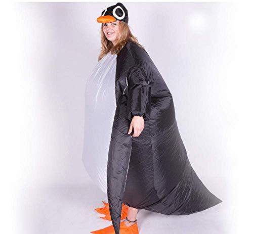 ZYC-WF Aufblasbare Clothinginflatable Pinguin-Kostüm Männer Erwachsen Partei Karneval Kleid Blow Up Set Halloween-Kostüm-Stage Club
