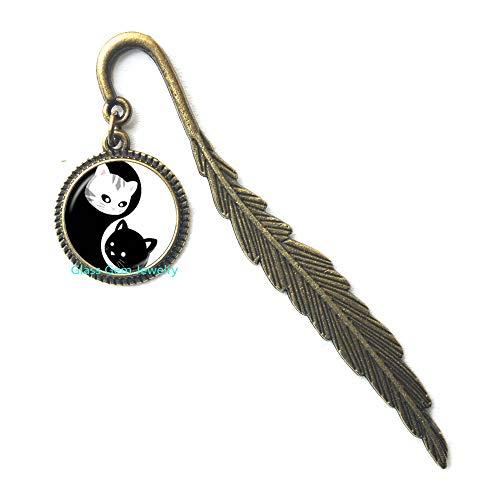 Yin Yang, segnalibro con gatto bianco e nero, otto diagrammi modello Magic Tai Jewelry accessorio alla moda per innamorati, Q0288