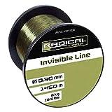 Radical Invisible Line - Hilo de Pescar (0,30 mm de diámetro, 1450 m, 8,0 kg, 1450 m), Color Verde