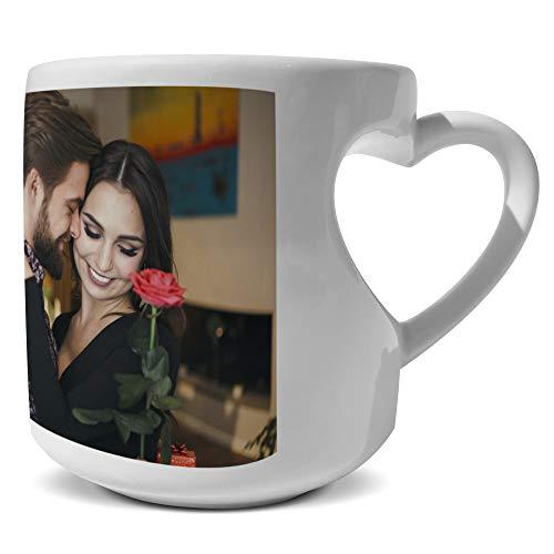 LolaPix Taza Love Personalizada con Foto, diseño o Texto, Original y Exclusivo. Regalo para Enamorados. Tazas con Amor