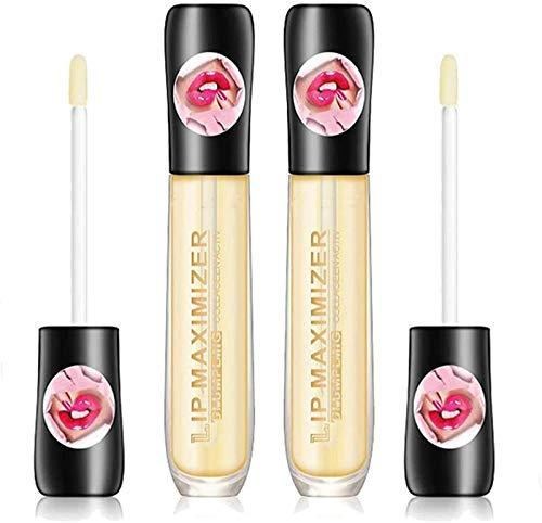 2pcs Lip Plumper Extreme Lip Gloss Maximizer Volume Plump Labbra più Grandi Idratante, Eliminate Dryness Enhances Plump Gloss, Moisturizing Lip Care Serum