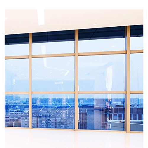 ZHJ Reflektierende Spiegelglas Film Home-Fenster-Aufkleber Einweg-Perspektive Transparente Isolierung Film Fenster Sonnenschutz-Fenster-Film Datenschutz Fensterfolien (Size : 70x100cm)