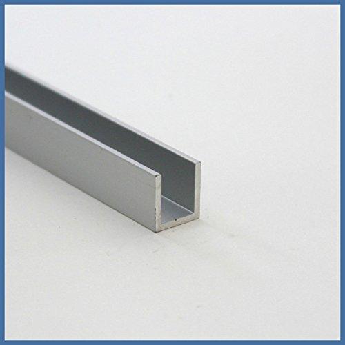 Aluminium U-Wandprofil, 2010 x 12 x 11 x 12 x 1,5mm, Chromoptik