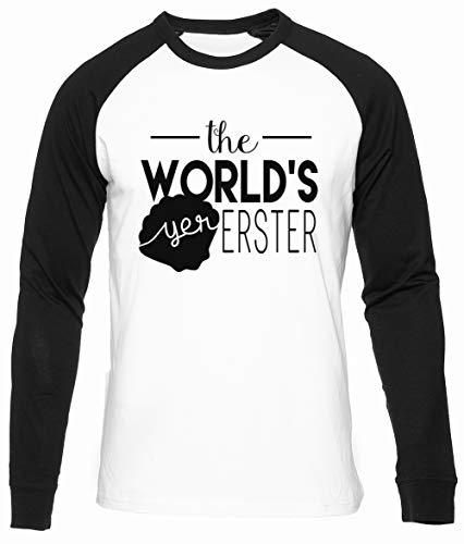 The Worlds Yer Erster Blanco Unisex Camiseta Beisbol Hombre Mujer Manga Larga Tamaño XS Unisex Baseball T-Shirt Long Sleeves Size XS